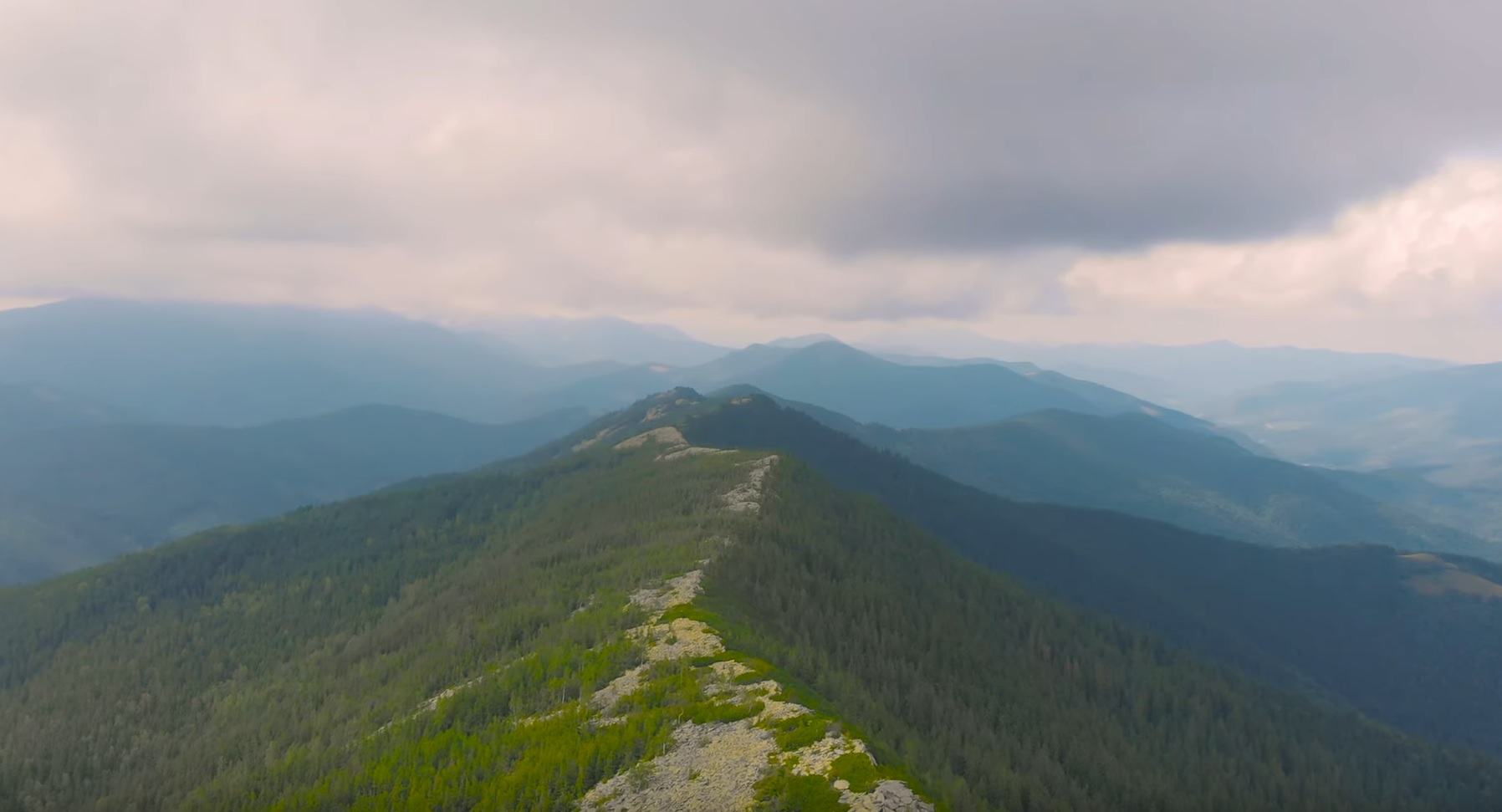 Carpathian Mountains From Above