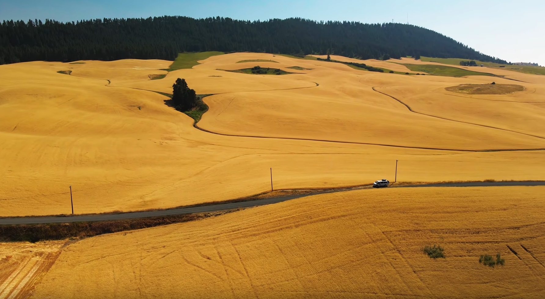 Flying Over The Palouse Fields