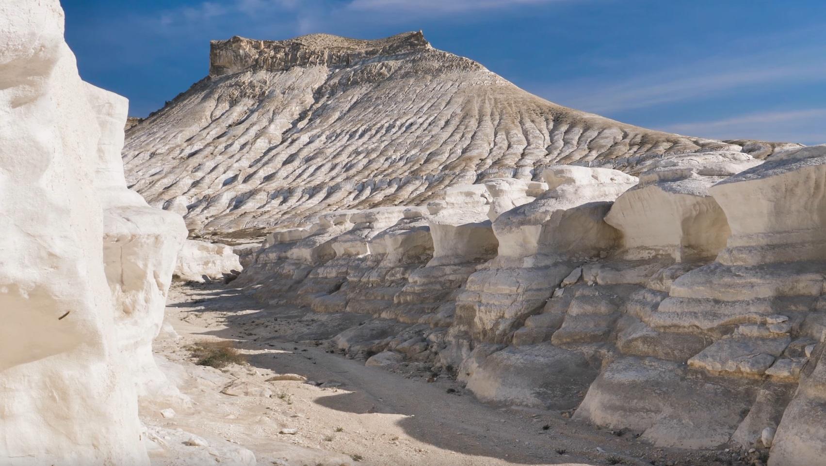 Scenery of White Canyon, Kazakhstan